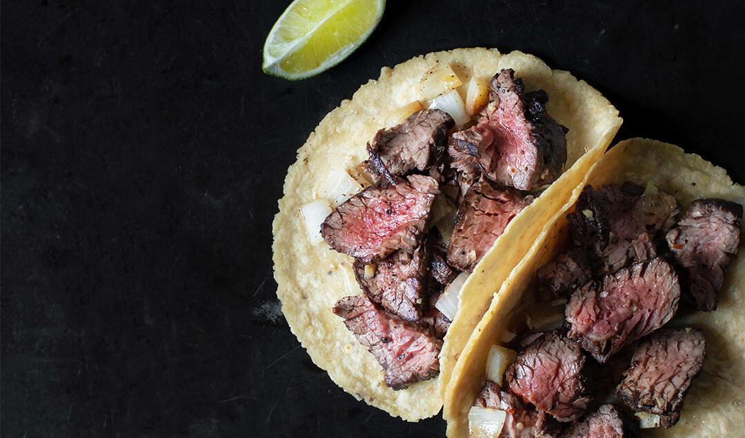 Steak Tacos with Mojo de Ajo