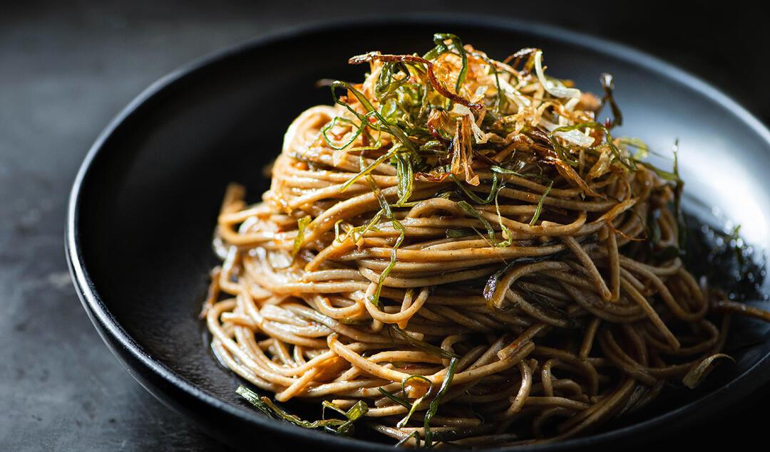 Plate of Scallion Oil Noodles